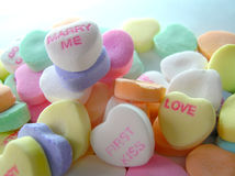 Marry Me Candy. A group of conversation hearts focusing on Marry Me Stock Photography