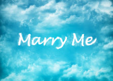 Marry Me cloud word Stock Photos