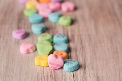 Marry me conversation heart treats close up Stock Image