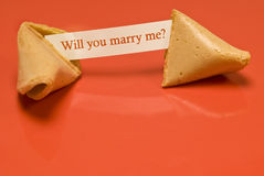 Marry Me 1 Fortune Cookie Royalty Free Stock Photography