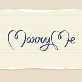 Marry me hand lettering Stock Image