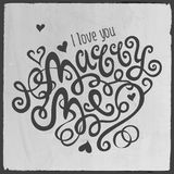 Marry Me hand lettering Stock Photo