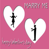 Marry me, Happy valentine's day, Valentine's Day greeting card Royalty Free Stock Photo