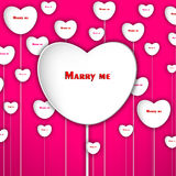 Marry me heart background Stock Image