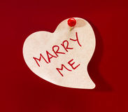 Marry Me Heart Memo Royalty Free Stock Photo