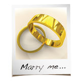 Marry me instant photo Stock Image
