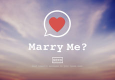 Marry Me Proposal Marriage Online Messaging Concept Royalty Free Stock Images