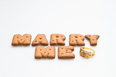 Marry Me With Ring Royalty Free Stock Photo