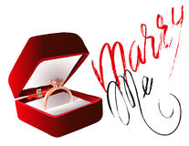Marry me ring sign icon. Engagement symbol. Marry me lettering. EPS10 Stock Image