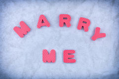Marry me Royalty Free Stock Photos