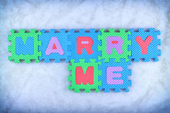Marry me Royalty Free Stock Photography