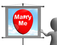 Marry Me Sign Represents Lovers Proposed Engagement Stock Image