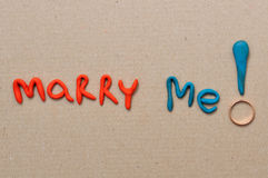 Marry me in valentines day Royalty Free Stock Photos