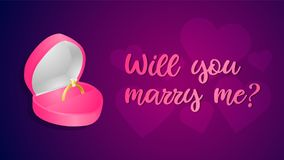 Marry me vector stock illustration