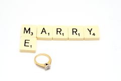 Marry me words Royalty Free Stock Photo