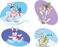 Marry rabbits Royalty Free Stock Images