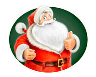 Marry Santa Claus show ok Royalty Free Stock Image