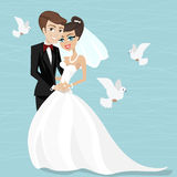 Marrying illustration Royalty Free Stock Photo