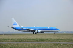 Mars, 2015 24ème, aéroport PH-BCA KLM D royal d'Amsterdam Schiphol Photos libres de droits