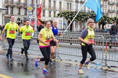 Mars, 2015 3ème marathon d'harmonie à Genève switzerland Photo stock