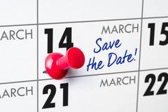 14 mars Image libre de droits