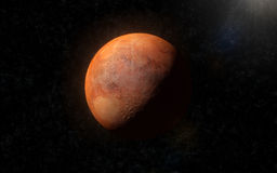 Mars 2. CG render of Mars in Space - showing the opposite side Royalty Free Stock Image