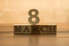 8 mars Photos libres de droits