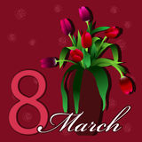 8 mars royaltyfria foton