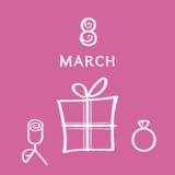 8 mars Photo libre de droits