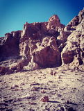 Mars aiment la surface dans la vallée lunaire en San Pedro de Atacama, Chili Image stock