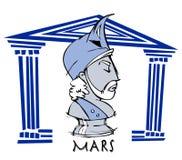 Mars, ares, antykwarski bóg Zdjęcie Stock