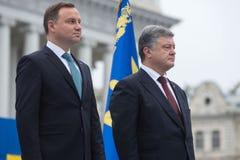 Mars av självständighet 25th årsdag av självständighet av Ukrai arkivbilder