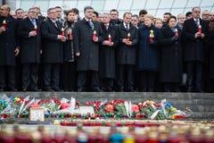 Mars av värdighet i Kyiv Fotografering för Bildbyråer