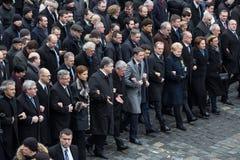 Mars av värdighet i Kyiv Royaltyfri Fotografi