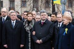Mars av värdighet i Kyiv Royaltyfri Foto
