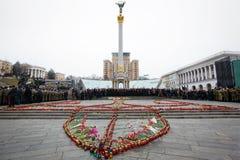 Mars av värdighet i Kyiv Arkivfoton