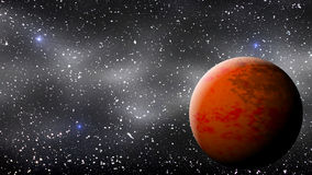 Mars Red Planet Scene. Red Planet Landscape - Background Illustration Royalty Free Stock Images