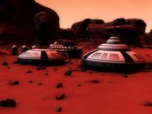 Mars base Stock Photo