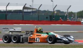 Mars 2-4-0 bil för grand prix för formel 1 för 6 hjul Arkivfoto
