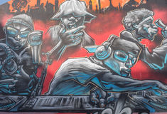 9 mars 2017, Brighton, R-U Art de rue par l'artiste Br de graffitti Images stock