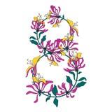 8 mars carte de félicitation Le jour des femmes heureuses Fond de conception florale?, contexte, conception de l'illustration Photos stock