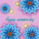 8 mars Carte de voeux florale Image libre de droits