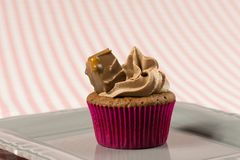 Mars cupcakes, delicious and yummy Mars and Milk chocolate cupcake. Mars and Chocolate cupcakes, delicious and yummy Mars and Milk chocolate cupcakes royalty free stock photography