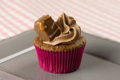 Mars and Chocolate cupcakes, delicious and yummy Mars and Milk chocolate cupcake. S royalty free stock photo