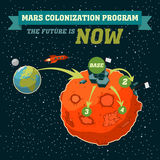 Mars colonization program Stock Images