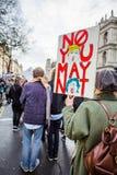 Mars contre des politiques d'atout Photo stock