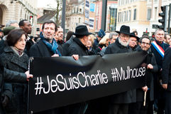 Mars contre l'attaque de terrorisme de magazine de Charlie Hebdo, le 7 janvier 2015 à Paris Photos stock
