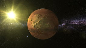 Mars 3D text around Planet mars royalty free illustration