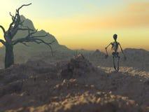 Mars d'un skelleton 1 illustration libre de droits