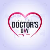30 mars, Day du monde de docteur carte de voeux de concept, médecins nationaux Day Template calorie illustration libre de droits